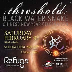 Threshold Black Water Snake Portland Chinese New Year @ Refuge PDX