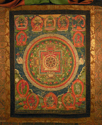 001- Un mandala de la Samvara yi-dam. Pintado en textil-© The Trustees of the British Museum