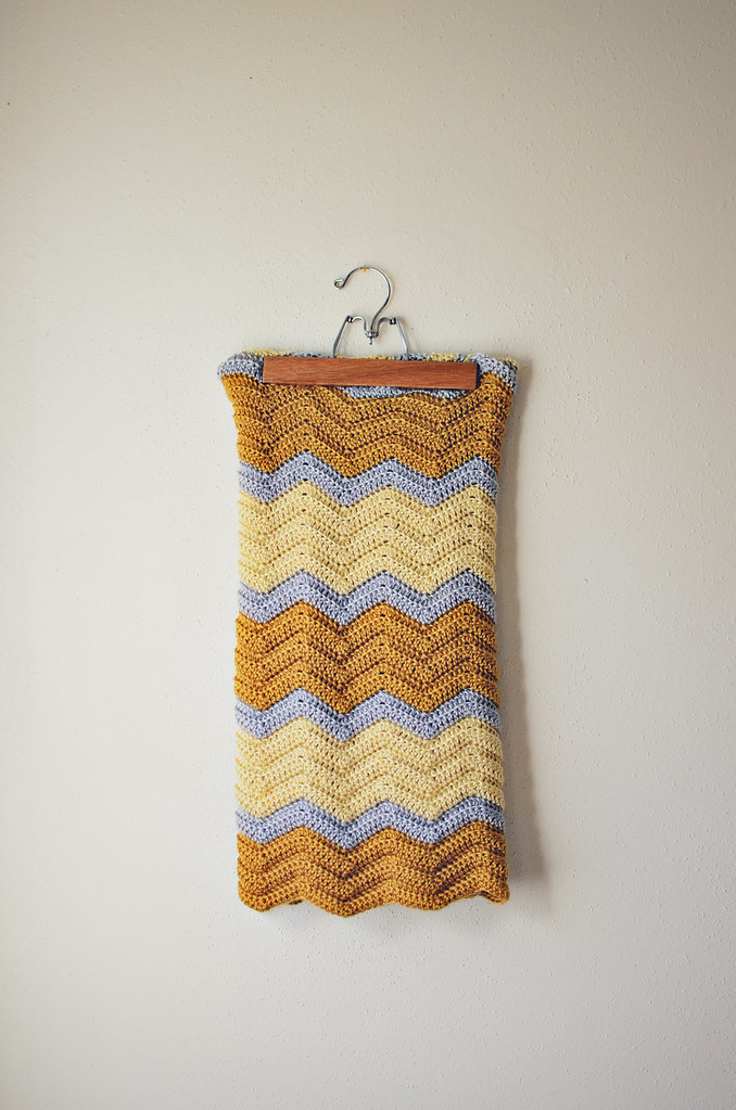 golden chevron blanket