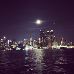 When you get caught between the moon and #NewYorkCity