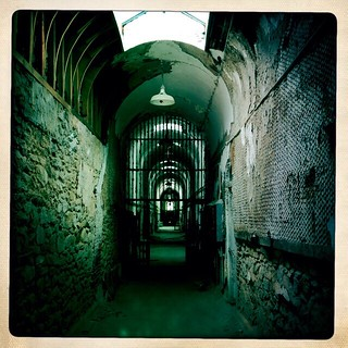 Image of Eastern State Penitentiary. philadelphia philly 41stbirthday easternstate easternstatepen easternstatepenitentiary prison abandonedprison penitentiary jail decay hipstamatic