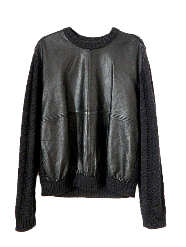 black leather vintage fendi sweater my fair vanity