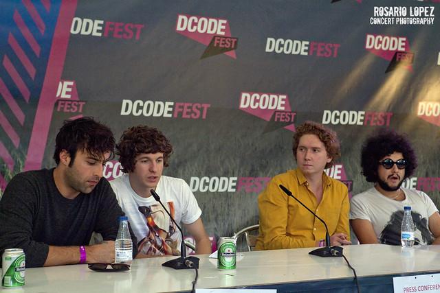 Rueda de prensa The Kooks en DCode Fest 2012