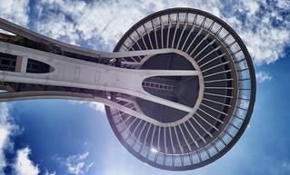 Space Needle.  Seattle Center, Seattle, WA.