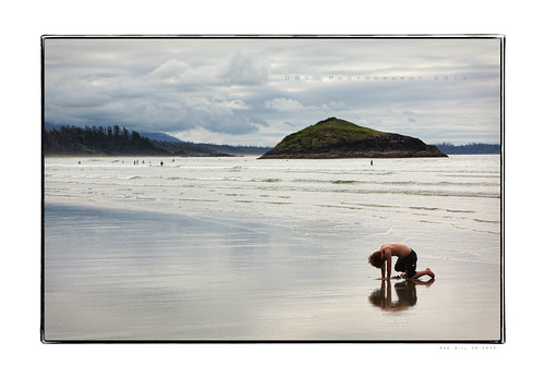 Reflecting at Long Beach, Tofino BC