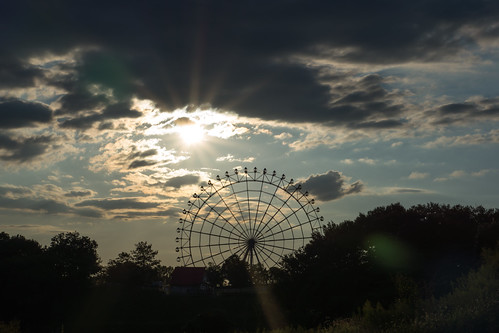 sunset sky cloud sunlight nature japan clouds evening sony ferriswheel 日本 夕日 夕暮れ 愛知県 nex 観覧車 大観覧車 モリコロパーク nex7