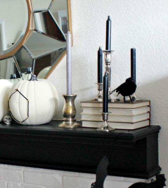 Halloween Mantel ~ Hi Sugarplum