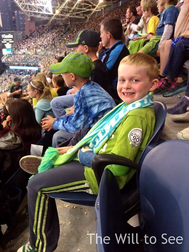 Jack at Sounders game