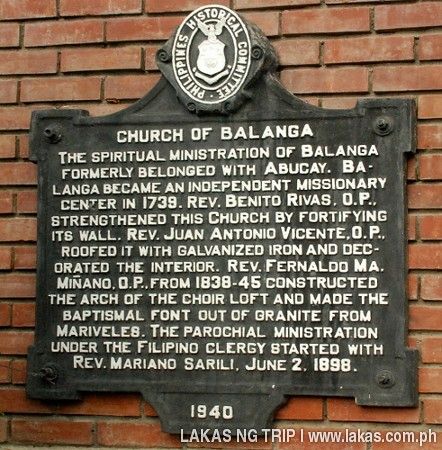 Historical Marker of the Church of Balanga, Bataan