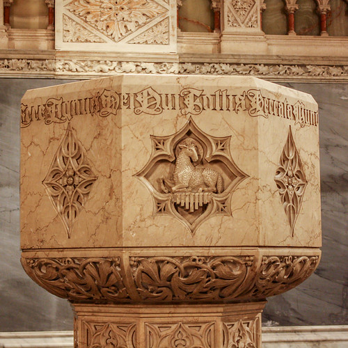 St Patrick Cathedral, New York (font)