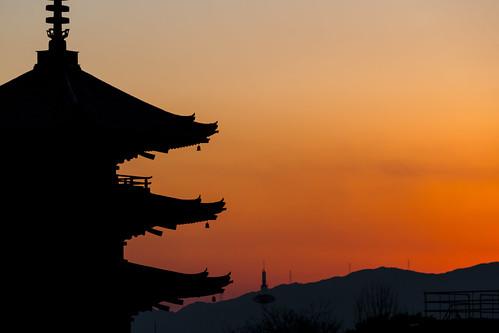 japan kyoto 京都 日本 八坂の塔