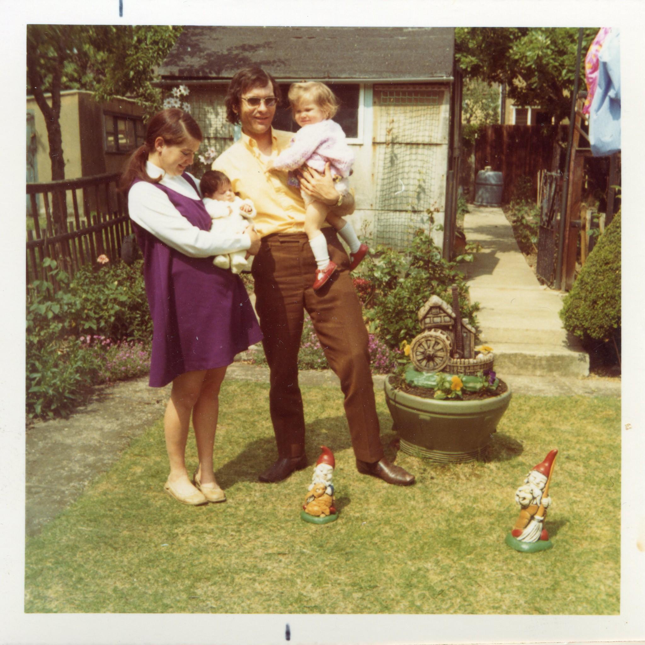 Gnome In Garden: 1970s Family With Garden Gnomes - 2