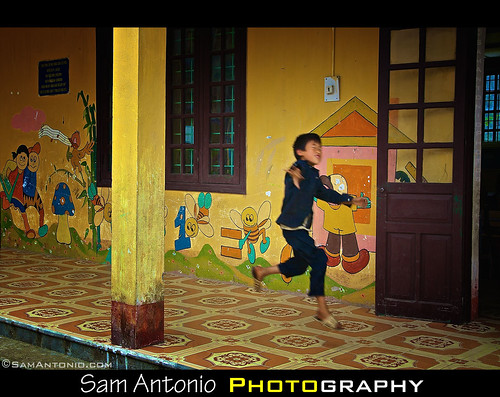 Jumping for Joy in the Ta Phin Village - Sapa, Vietnam by Sam Antonio Photography