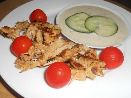 mini kebabs w/ tahini sauce