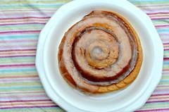 produce(0.0), meal(1.0), breakfast(1.0), glaze(1.0), cinnamon roll(1.0), food(1.0), dish(1.0), cuisine(1.0),