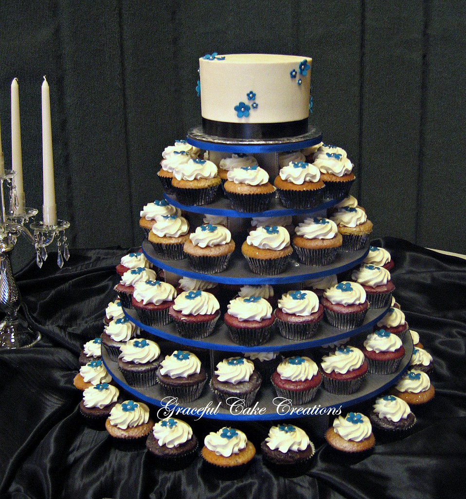 Royal Blue And Black Wedding Cake | www.imgkid.com - The ...