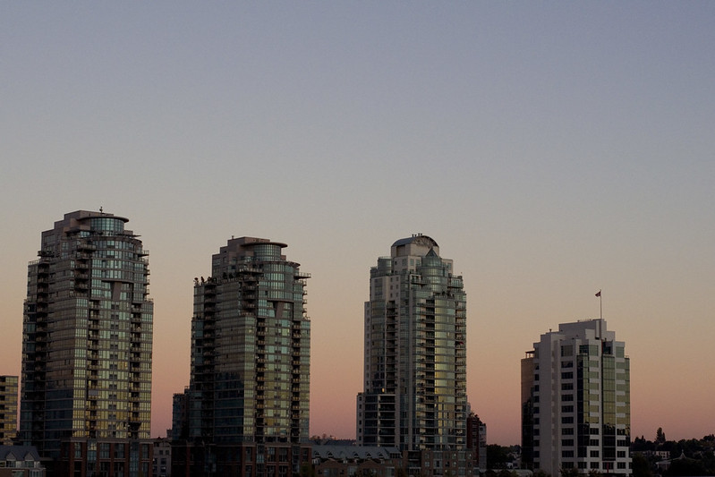False Creek, dusk.