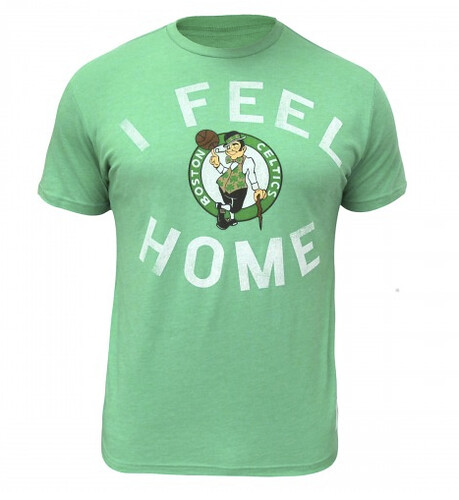 Boston Celtics I Feel Home T Shirt By Sportiqe Apparel ( OAR Collective)