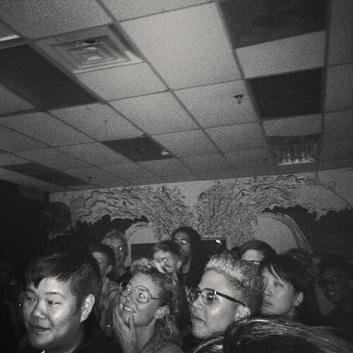 B&W:Crowd for POCZP's Race Riot! tour finale at Death By Audio on Oct 7 2012