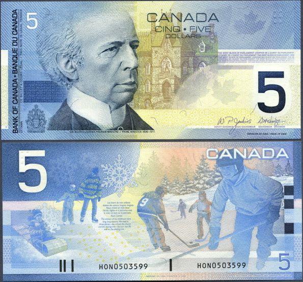 5 Dolárov Kanada 2002, Pick 101