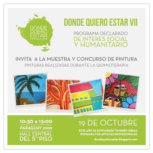 Poster muestra de arte donde quiero estar 19 de octubre de 2012 hospital de clinicas
