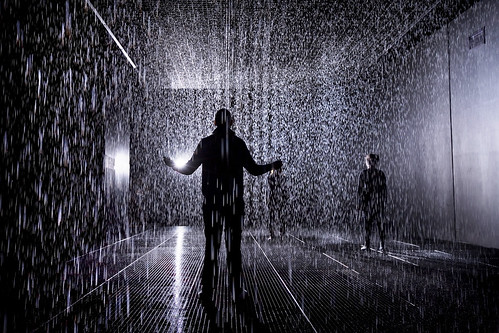 2. Rain Room Installation images © Felix Clay. Rain Room - Random International 2012. Courtesy of Barbican Art Gallery