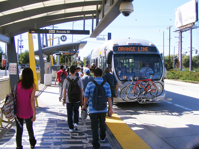 Bus Approaching, Reseda Station
