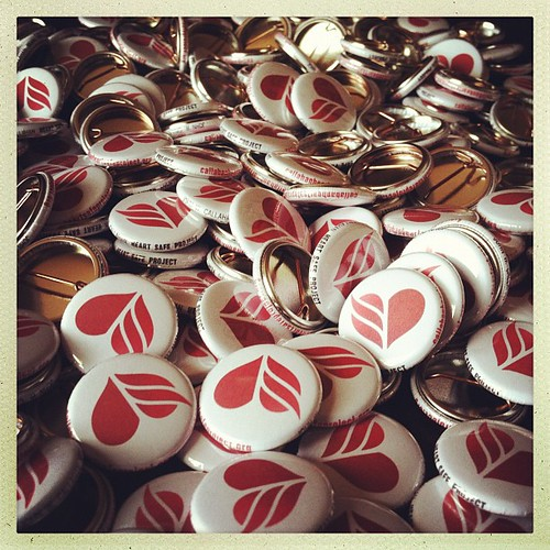 300 buttons for heart safe project. the most buttons i've ever made in one sitting.