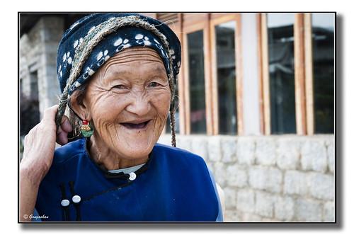 Sourire de la grand-mère