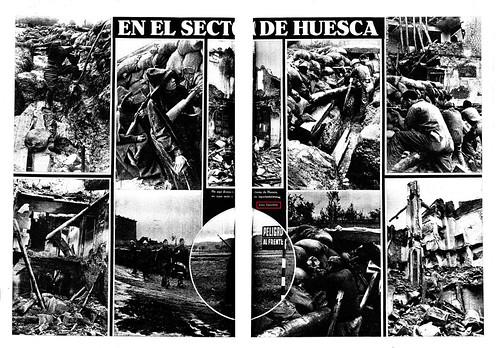 La Vanguardia 23 de octubre de 1936  doble página con fotos de Centelles by Octavi Centelles