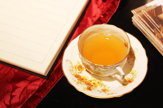 teacup and notebook