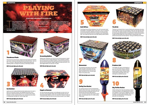Epic Fireworks Feature - Sorted Magazine October 2012