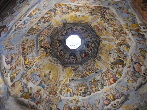 Fresco inside of the Cupola of Santa Maria del Fiore, Firenze
