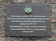 Photo of John Wesley brown plaque