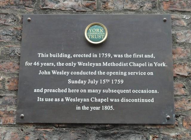 Photo of John Wesley brown plaque