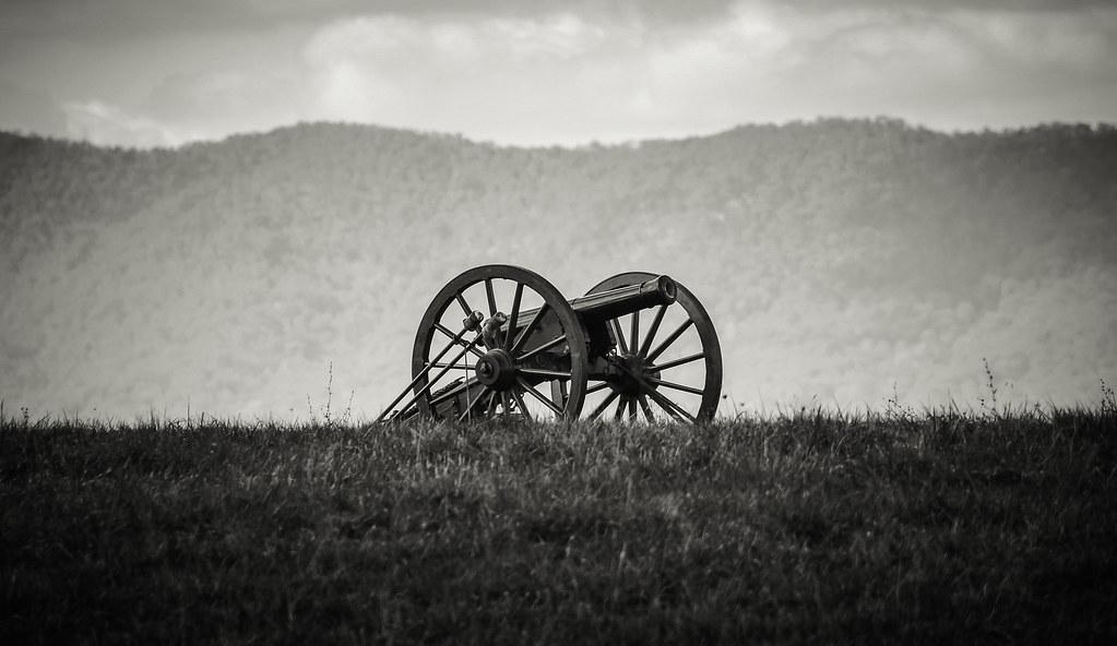 Battle of Cedar Creek reenactment 10/21/12 - Confederate Cannon