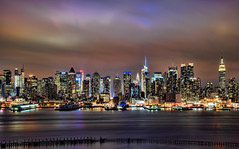 Long Exposure Manhattan Skyline