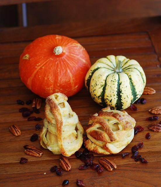 Halloween apple and pear mummy treats