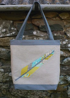 feather tote - front