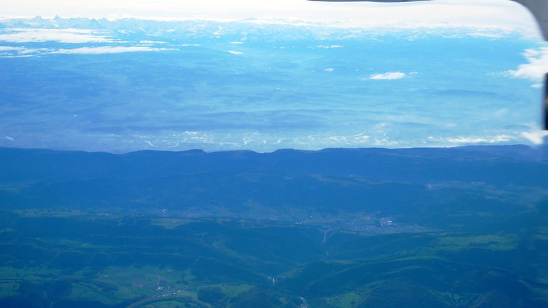 Over Switzerland in plane