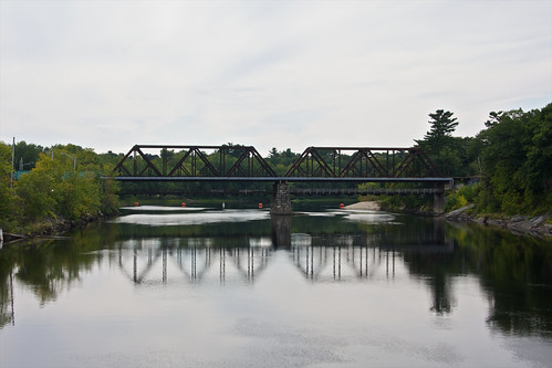 bridge usa black reflection america view united maine free brunswick states swinging androscoggin topsham