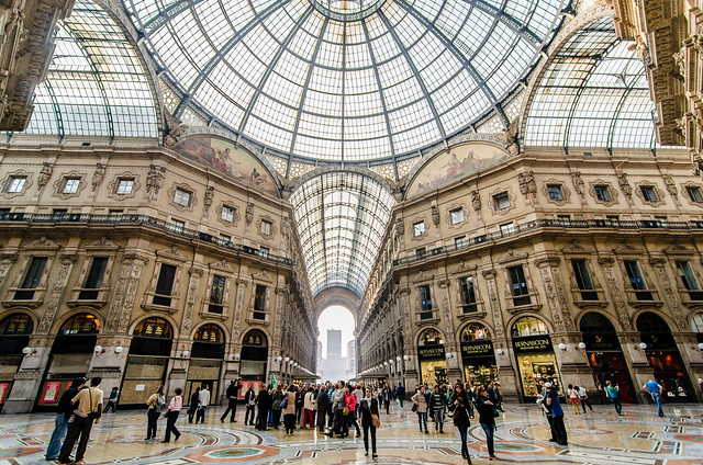 Milan's La Galleria by micurs, on Flickr. Used under CC BY 2.0