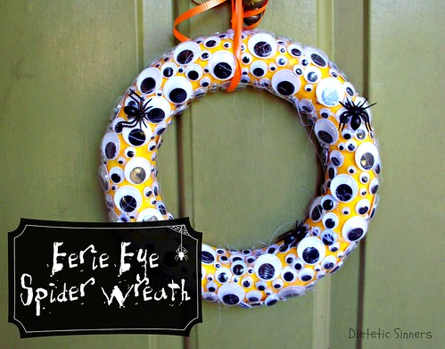 eerie eye spider wreath