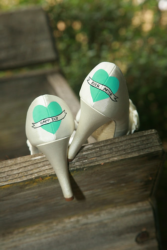 Painted wedding shoes!
