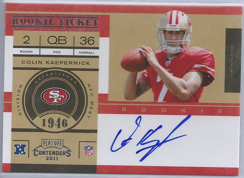2011 Playoff Contenders #227A Colin Kaepernick AU RC