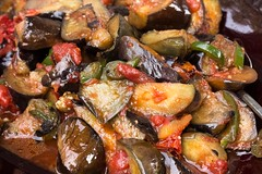 vegetable, eggplant, vegetarian food, food, dish, caponata, cuisine,