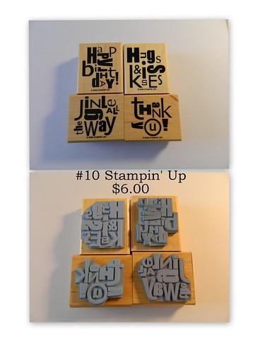 #10 Stampin' Up $6.00