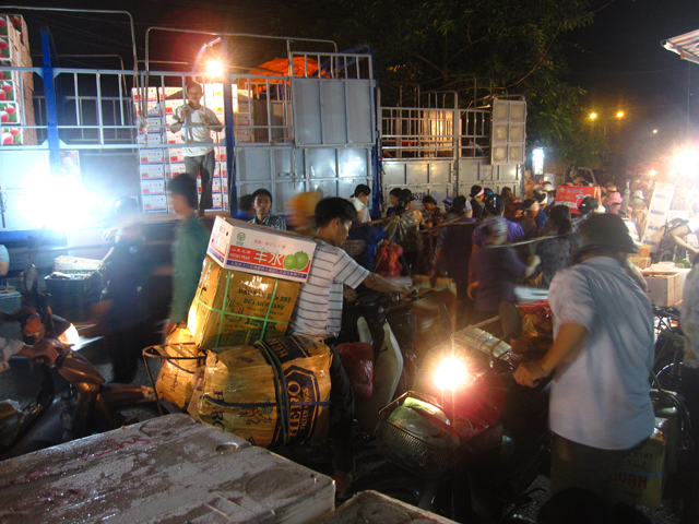 Long Bien Market in Hanoi