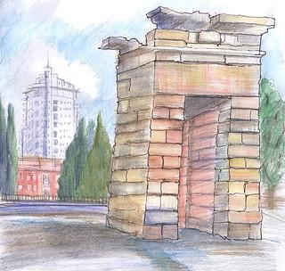 Puerta del Templo de Debod