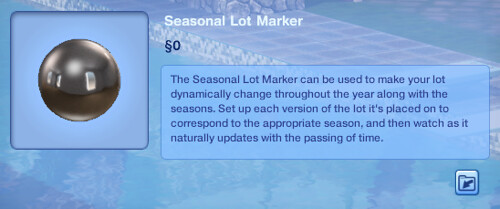 Seasonal Lot Marker